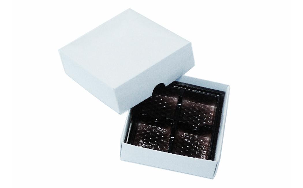 Chocolate tray in a cardboard box