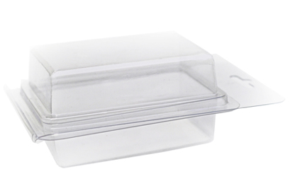 A clamshell blister pack